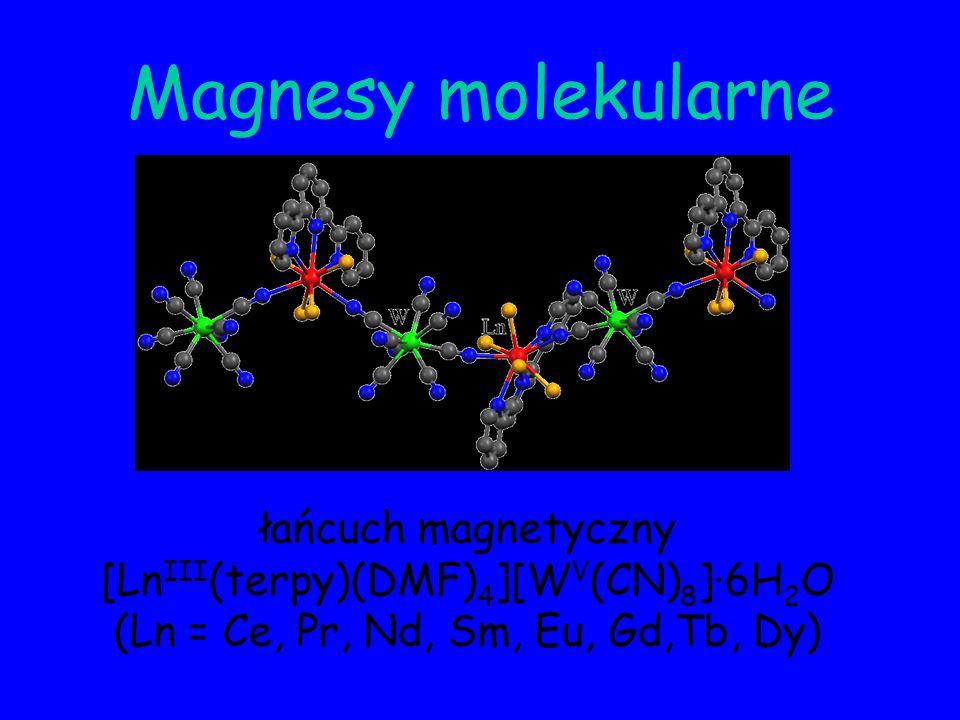 Magnesy molekularne łańcuch magnetyczny [LnIII(terpy)(DMF)4][WV(CN)8]·6H2O.